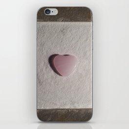 Rose Quartz heart in a zen garden iPhone Skin