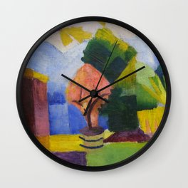 "August Macke ""Garten am Thuner See (Garden on Lake Thun)"" (II) Wall Clock"