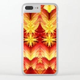 Emergence of Flame Mandala Clear iPhone Case