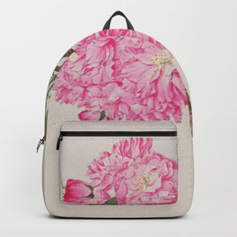 Barrier Mountain Cherry Blossoms Watercolor Backpack