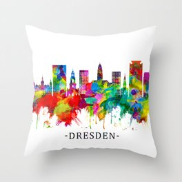 Dresden Germany Skyline Throw Pillow