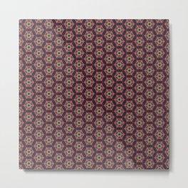 Flowers and Bees Pattern 1 Metal Print