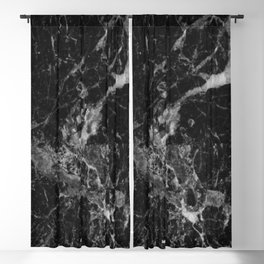 Black and Gray Marble Pattern Blackout Curtain