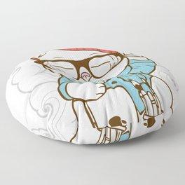Hipster Kitty Floor Pillow