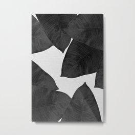 Banana Leaf Black & White II Metal Print