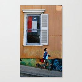 Valpo playful run Canvas Print