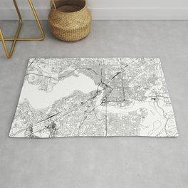 Jacksonville White Map Rug