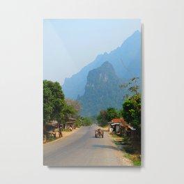 Karst Mountains near Vang Vieng Metal Print