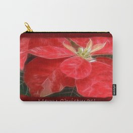 Mottled Red Poinsettia 1 Ephemeral Merry Christmas P5F5 Carry-All Pouch