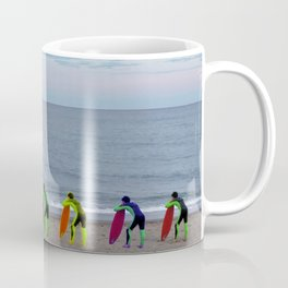Patient Surfer - Neon - Waiting In Line Coffee Mug