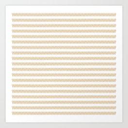 Stripe's Ripple Tan White Art Print