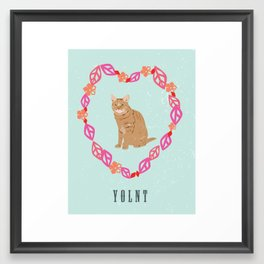 You only live nine times Framed Art Print