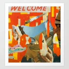 Welcome Surveyor Art Print