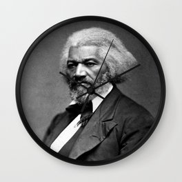 Frederick Douglass Portrait Wall Clock