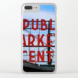 Pike Place Market Clear iPhone Case