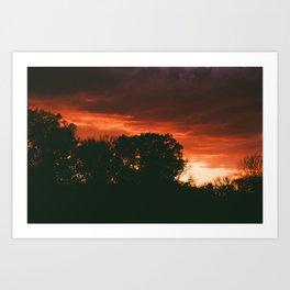 Stunning Bright Orange Sunset Art Print