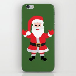 Christmas Santa Claus Says Welcome to You iPhone Skin