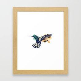 Hummingbird - Collage Framed Art Print