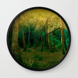 Magical forest landscape Wall Clock