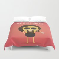 the big lebowski Duvet Covers featuring  The Big Lebowski by BajuKhaju