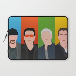 U 2 - Bono, the Edge, Adam Clayton, Larry Mullen Jr Laptop Sleeve