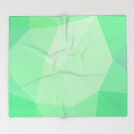 Smaragd polygonal pattern Throw Blanket