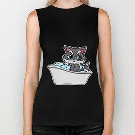 Bathtub cat Biker Tank
