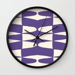 Zaha Ultra Violet Wall Clock