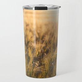 Golden fields sunset Travel Mug