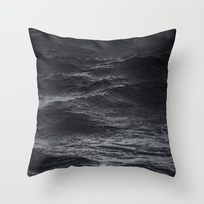 Dark ocean #ocean waves Throw Pillow