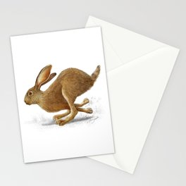 Antelope jackrabbit art print Stationery Cards