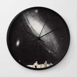 hiking under the stars Wall Clock