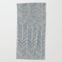 Freeform Arrows in navy Beach Towel