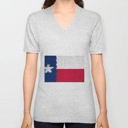 Extruded flag of Texas Unisex V-Neck