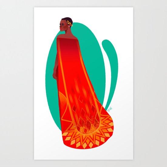Fire Queen Lupita 2 Art Print