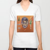 pilot V-neck T-shirts featuring Pilot by Terry Luc