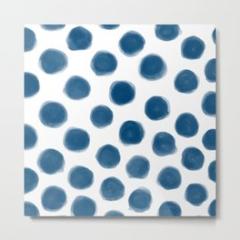 blue polka dots Metal Print