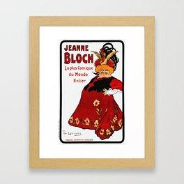 Vintage French Ad - Jeanne Bloch Framed Art Print