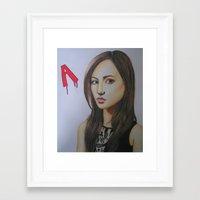 pretty little liars Framed Art Prints featuring Spencer Hastings Pretty Little Liars by Sanne Kapelle