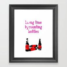 counting bottles Framed Art Print