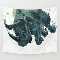 gravity Wall Tapestries featuring Gravity by Philipp Banken