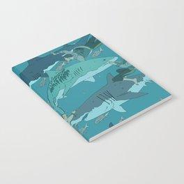 Sharks Pattern Notebook