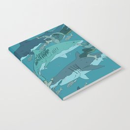 Sharks Pattern Notebook