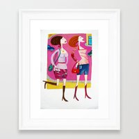 shopping Framed Art Prints featuring shopping by Giorgia Grippo Belfi