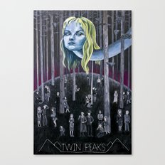Who Killed Laura Palmer? ( Twin Peaks with Title ) Canvas Print