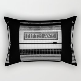 Fifth Ave Subway Rectangular Pillow