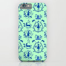 Miss Fairytale-pattern-green-blue iPhone 6s Slim Case