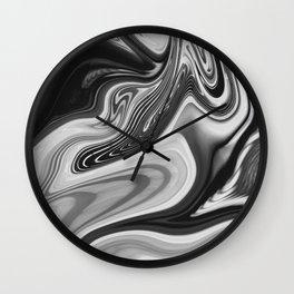 NEON - BLACK Wall Clock