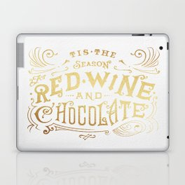 Tis the Season for Red Wine and Chocolate – White Laptop & iPad Skin