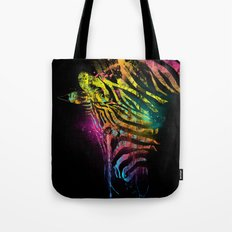 Zebra Mood Technicolor Tote Bag